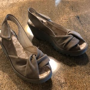 Taupe Fly London wedge